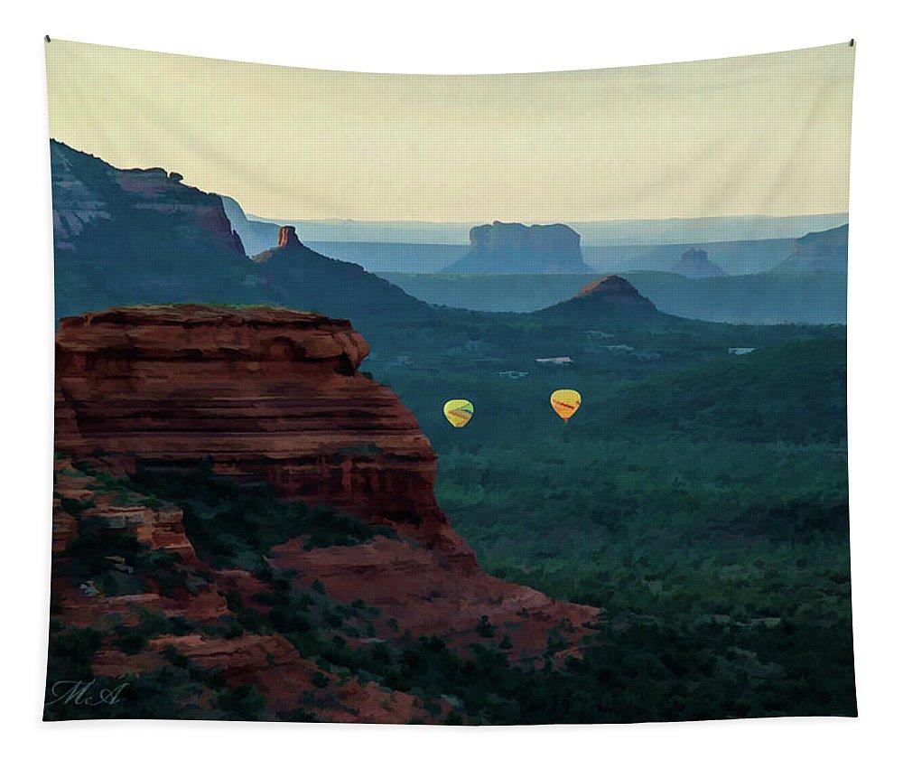 Arizona Tapestry featuring the photograph Boynton Canyon 07-079 by Scott McAllister
