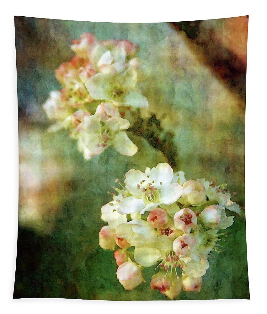 Impression Tapestry featuring the photograph Bradford Pear 8932 Idp_2 by Steven Ward