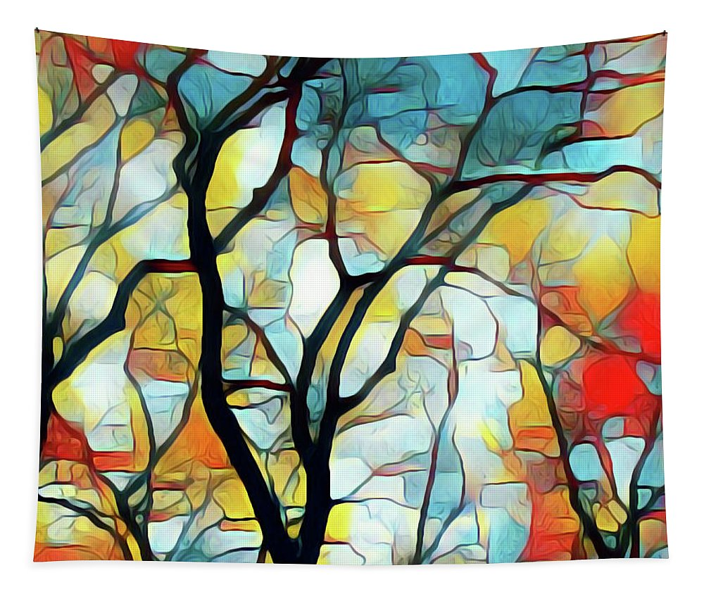 Tapestry featuring the painting Branching Out by Barry King