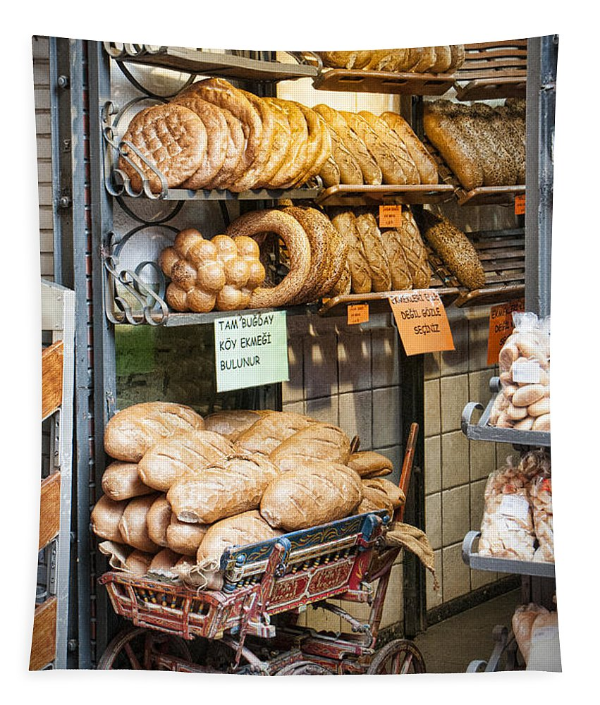 Breads For Sale Tapestry featuring the photograph Breads For Sale by Phyllis Taylor