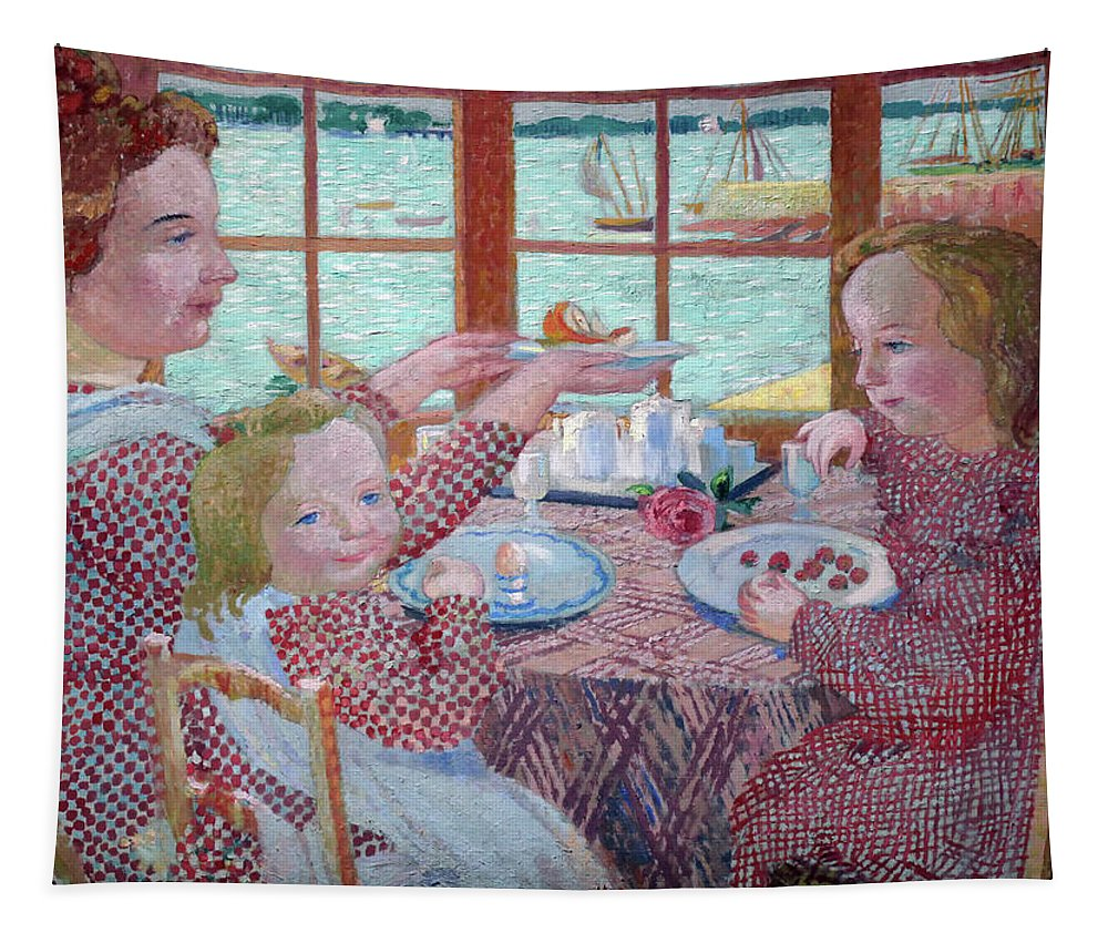 Painting Tapestry featuring the painting Breakfast by Mountain Dreams