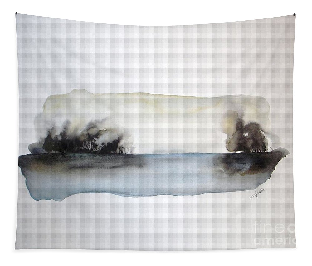 Watercolor Tapestry featuring the painting Breeze by Vesna Antic