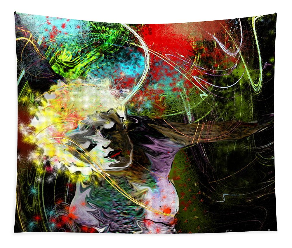 Fantasy Tapestry featuring the painting Bride Of Halos by Miki De Goodaboom