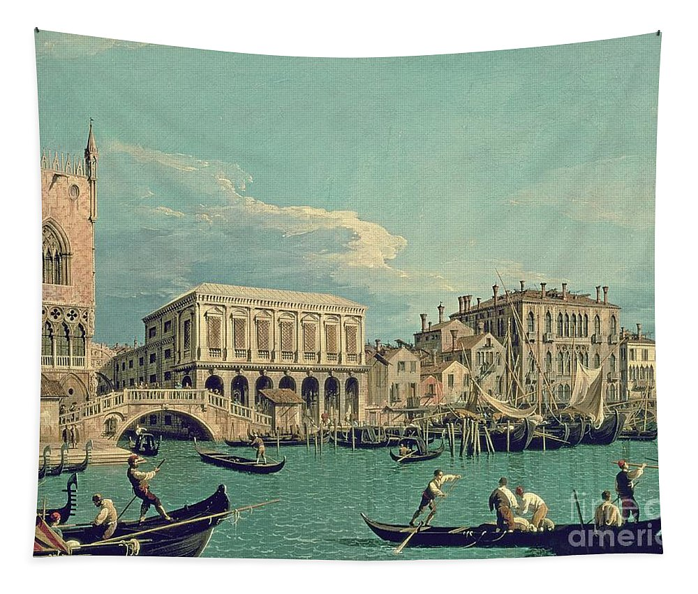 Canaletto Tapestry featuring the painting Bridge Of Sighs by Canaletto