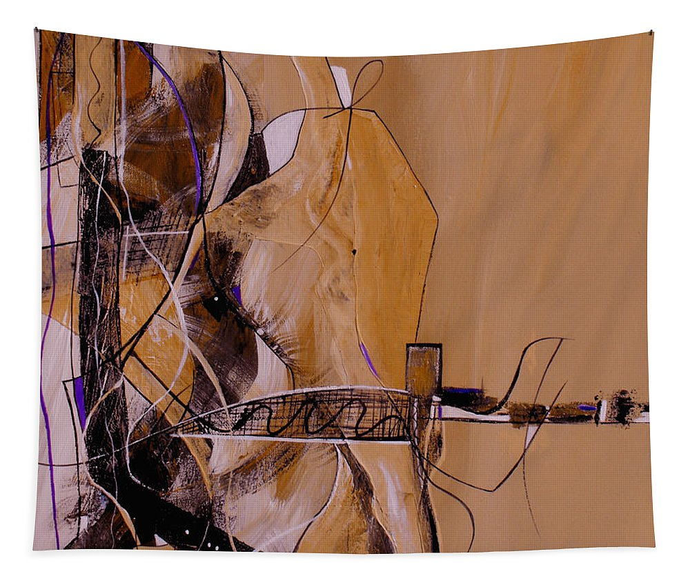 ruth Palmer Tapestry featuring the painting Bridge Over Troubled Water by Ruth Palmer