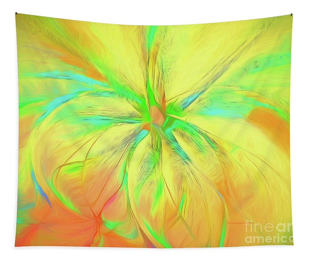 Fractal Tapestry featuring the painting Bright And Sunny by Deborah Benoit