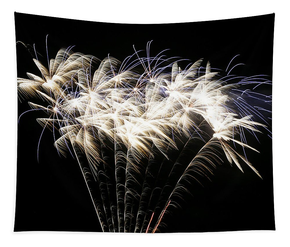 July 4th Tapestry featuring the photograph Bright Lights by Phill Doherty