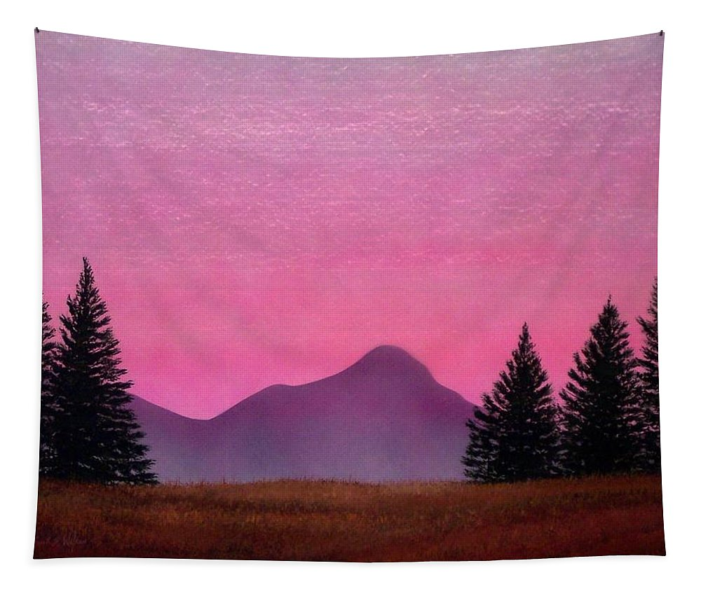 Landscape Tapestry featuring the painting Brightness by Frank Wilson