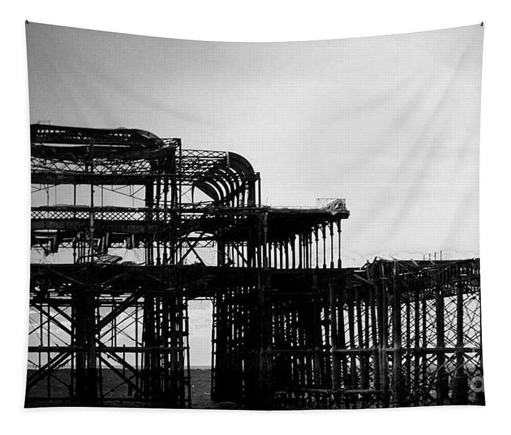 Brighton Tapestry featuring the photograph Brighton 2 by Ben Yassa