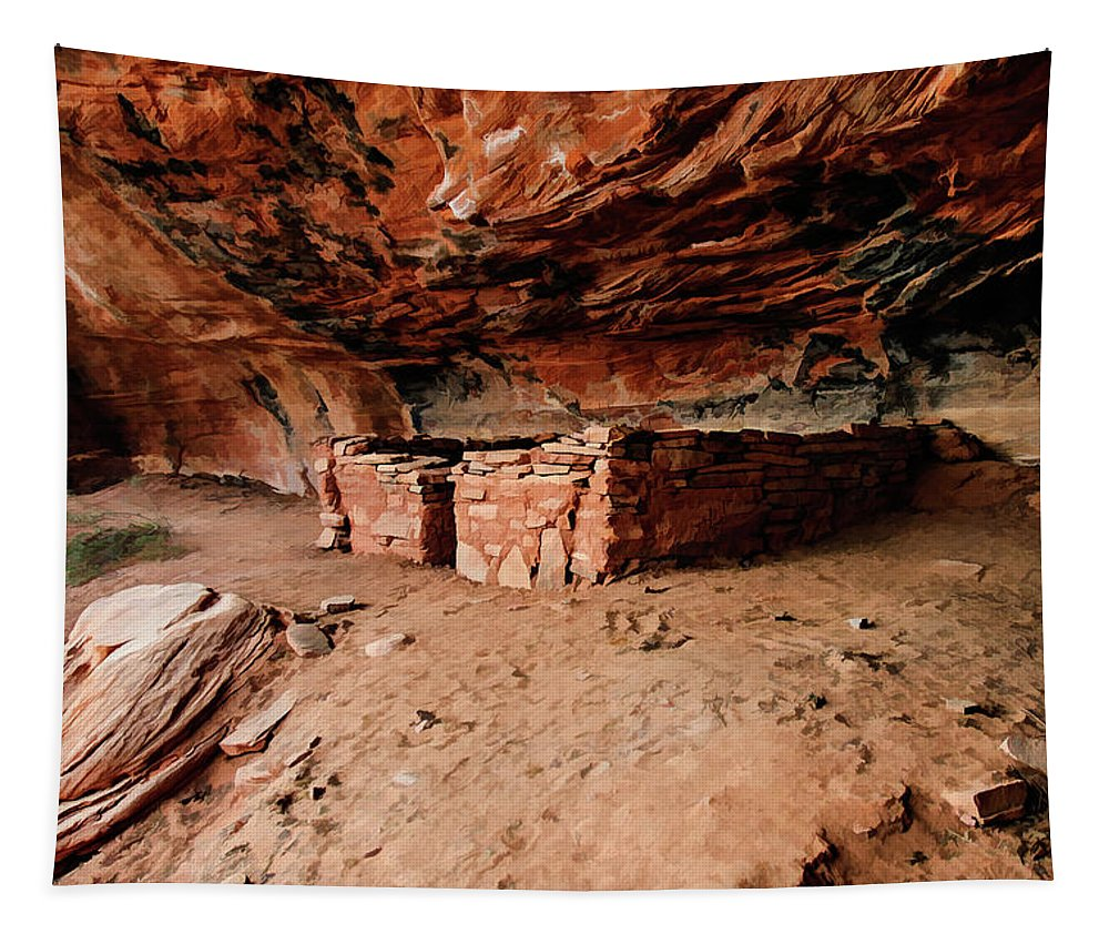 Sedona Tapestry featuring the photograph Brins Mesa 07-006 by Scott McAllister