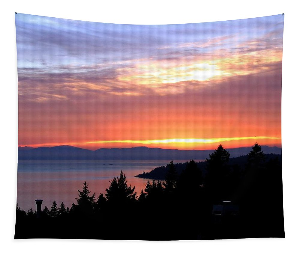Sunset Tapestry featuring the photograph British Columbia Sunset by Will Borden