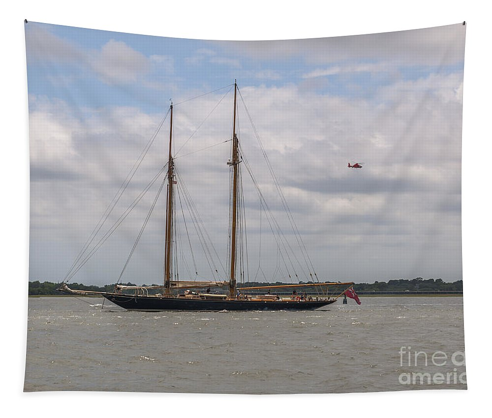 British Tapestry featuring the photograph British Sailing Vessel by Dale Powell