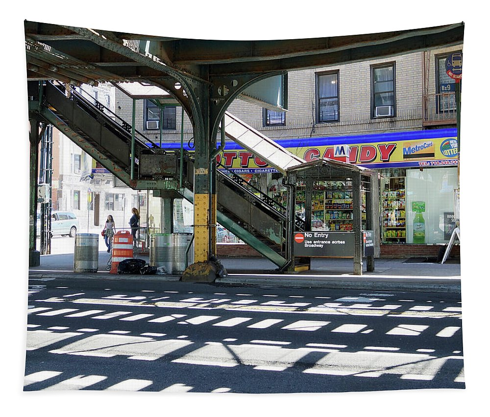 Bodega Tapestry featuring the photograph Broadway Bodega by DM Carpenter