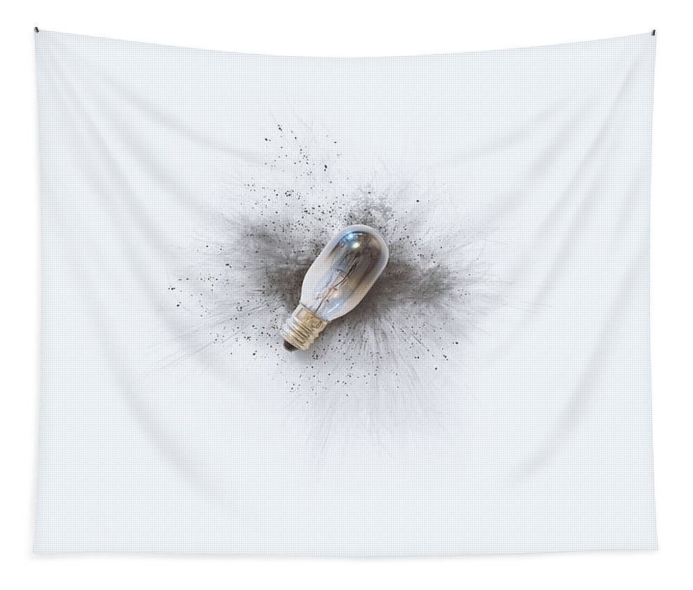 Scott Norris Photography Tapestry featuring the photograph Broken Bulb by Scott Norris
