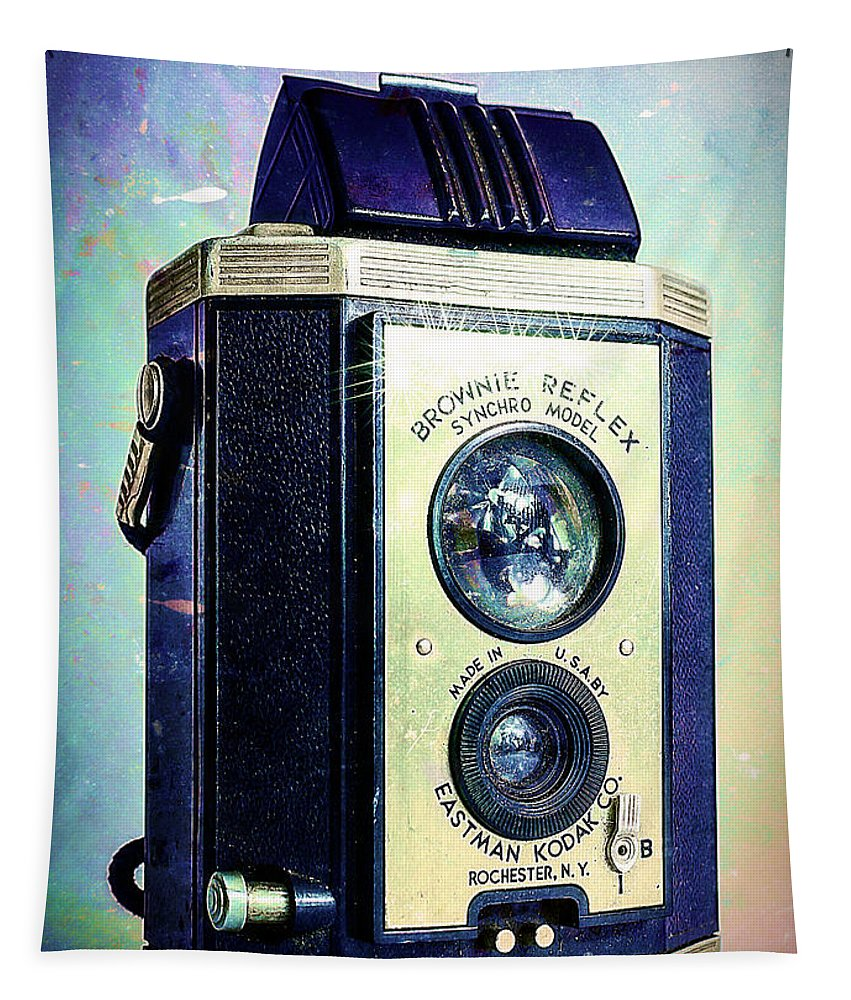 1940 Tapestry featuring the photograph Brownie Reflex by Jon Woodhams
