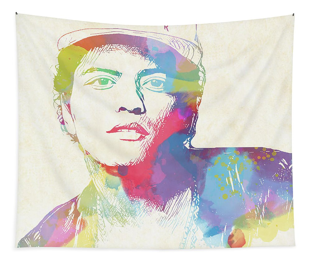 Bruno Mars Watercolor Tapestry featuring the painting Bruno Mars Watercolor by Dan Sproul