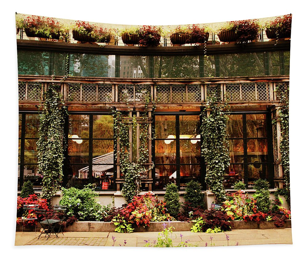 Bryant Park Tapestry featuring the photograph Bryant Park Grill by Jessica Jenney