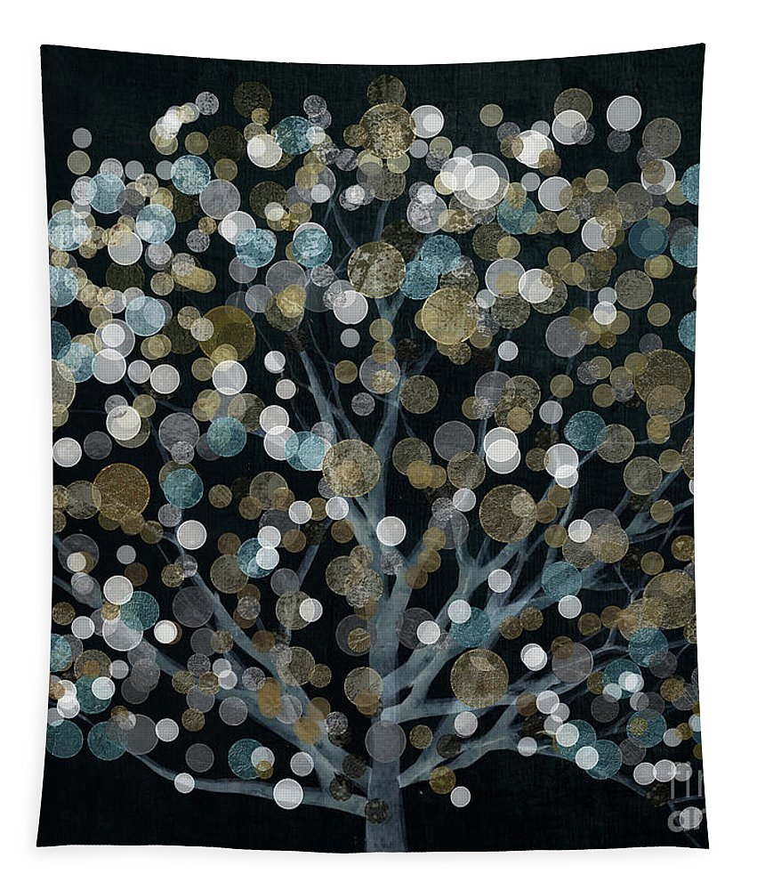 Tree Tapestry featuring the painting Bubble Tree Night by Mindy Sommers