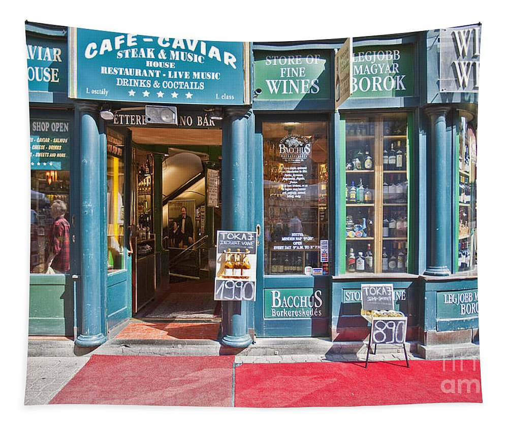Budapest Tapestry featuring the photograph Budapest Storefront by Madeline Ellis