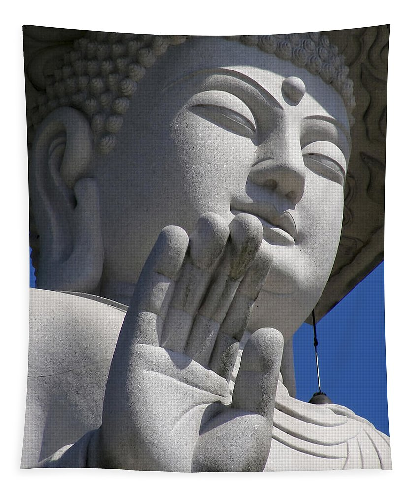 Buddha Tapestry featuring the photograph Buddha by Mary Lane