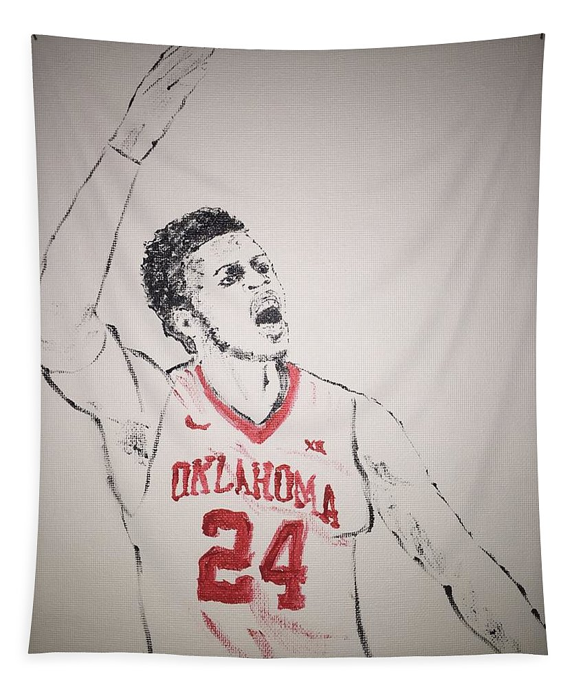 Buddy Hield Tapestry featuring the painting Buddy Hield by Jack Bunds