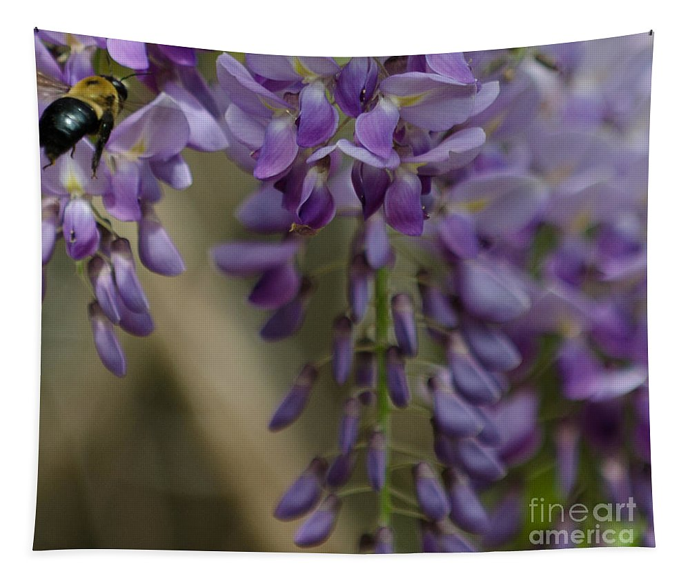 Bumble Bee Tapestry featuring the photograph Bumble Bee by Dale Powell