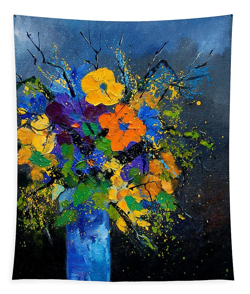 Poppies Tapestry featuring the painting Bunch 1007 by Pol Ledent