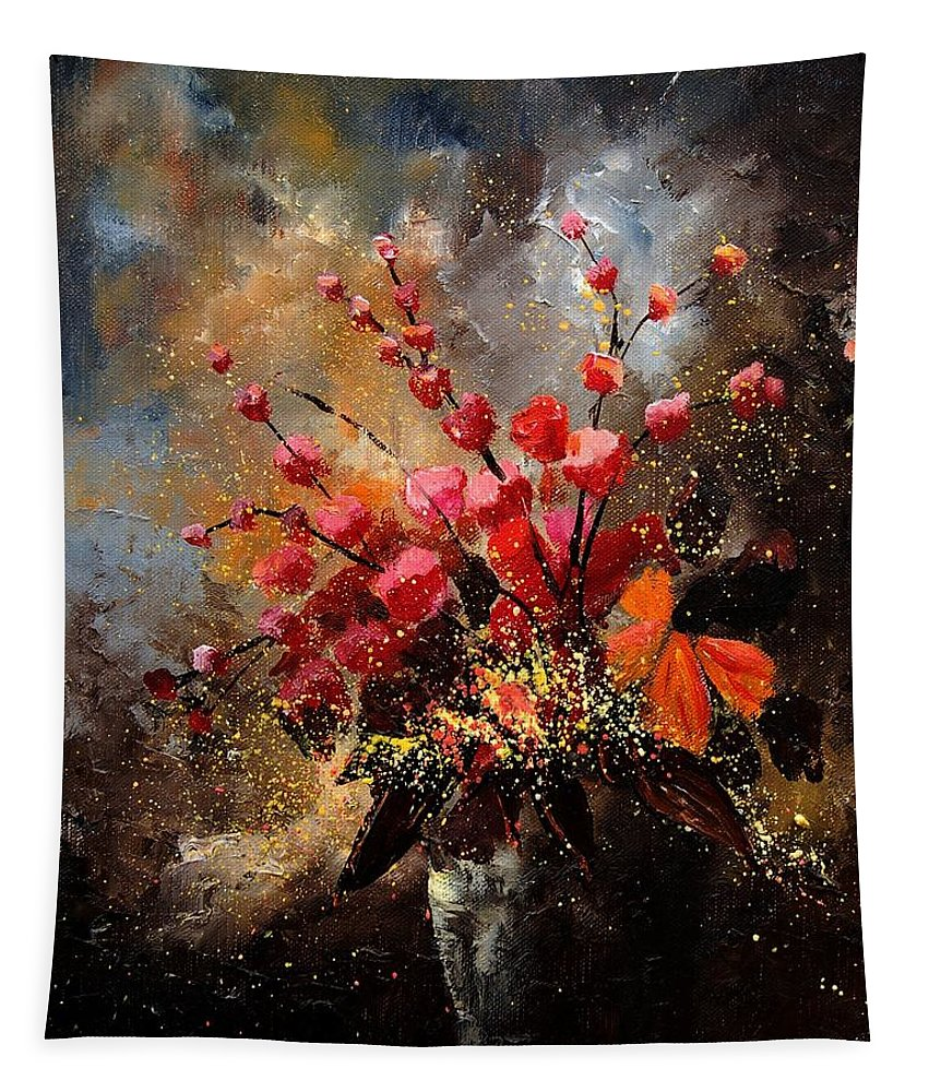 Poppies Tapestry featuring the painting Bunch 1207 by Pol Ledent