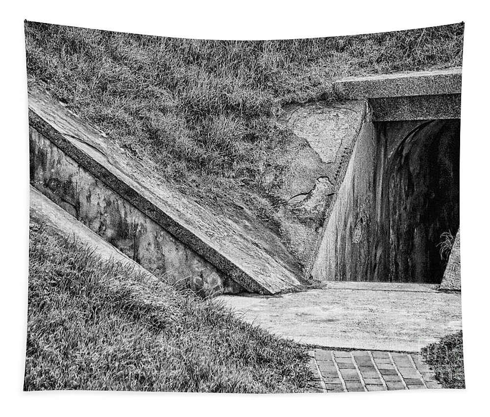 Hideout Tapestry featuring the photograph Bunkers At Foort Pulasi by Dawn Gari