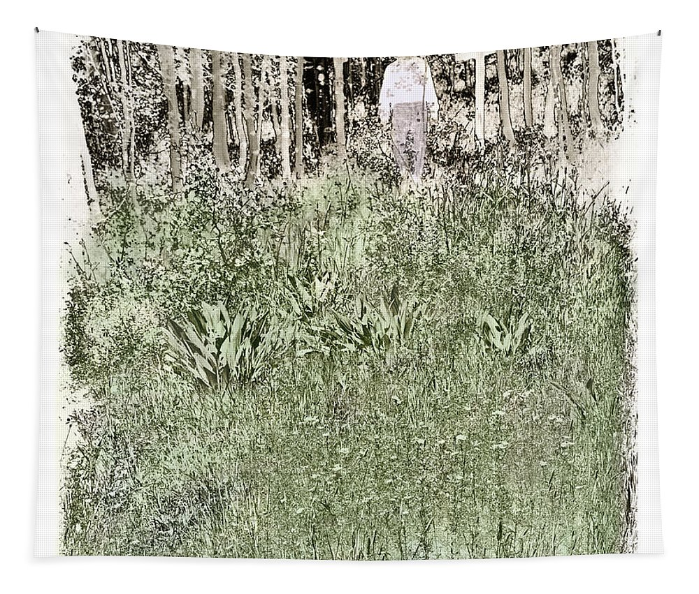 Burial Tapestry featuring the photograph Burial Ground by Madeline Ellis