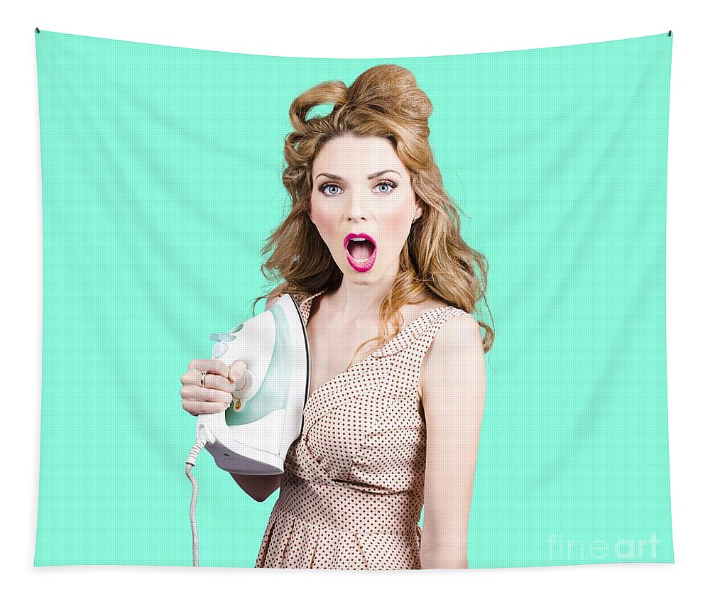 Laundry Tapestry featuring the photograph Burning Hot Fashion by Jorgo Photography - Wall Art Gallery