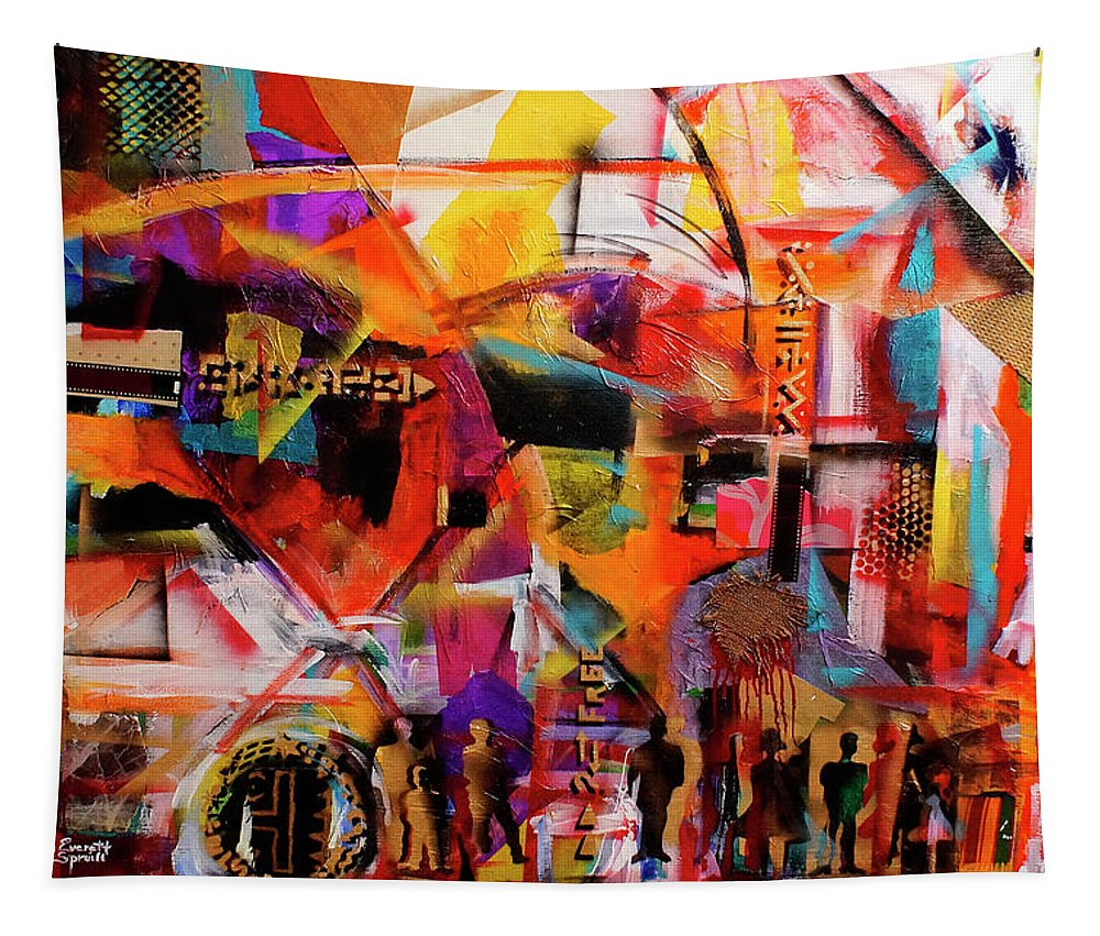 Everett Spruill Tapestry featuring the painting But still like air, we rise by Everett Spruill