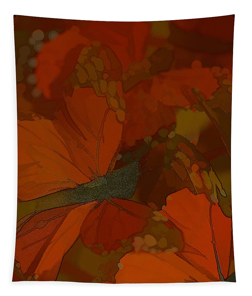 Butterflies Tapestry featuring the photograph Butterfly Abstract by Deborah Benoit