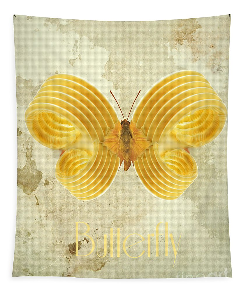 Butterfly Tapestry featuring the digital art Butterfly IIi by Binka Kirova