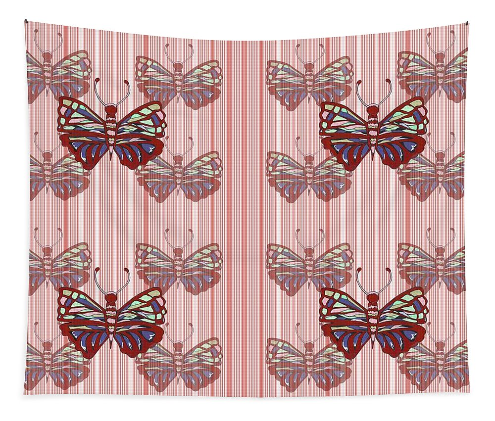 Butterfly Art Tapestry featuring the mixed media Butterfly Pattern by Kathleen Sartoris