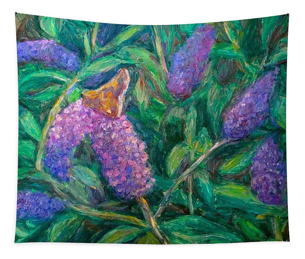 Butterfly Tapestry featuring the painting Butterfly View by Kendall Kessler