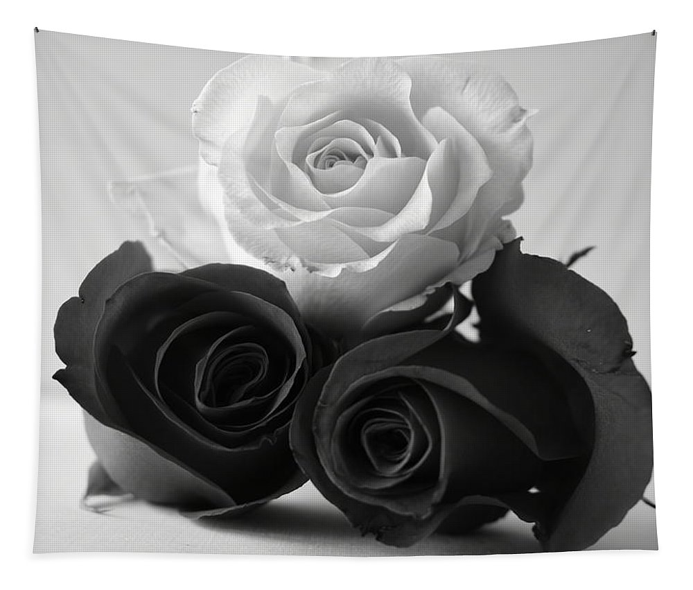 Roses Tapestry featuring the photograph Bw Roses #021 by Ninie AG