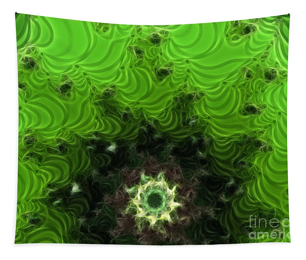 Cactus Abstract Tapestry featuring the digital art Cactus Abstract by Methune Hively