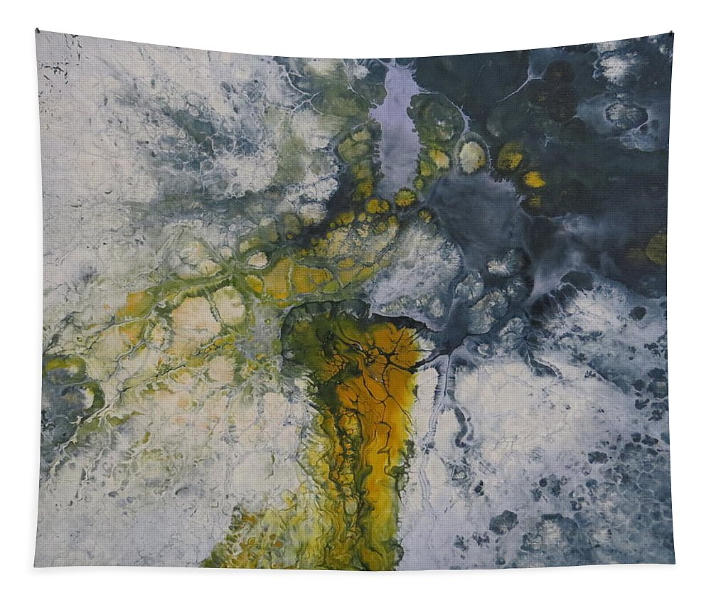 Abstract Tapestry featuring the painting Cadence by Soraya Silvestri