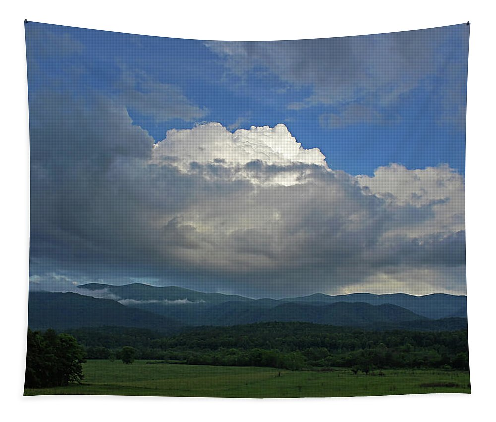 Cloud Tapestry featuring the photograph Cades Cloud by Jerry LoFaro