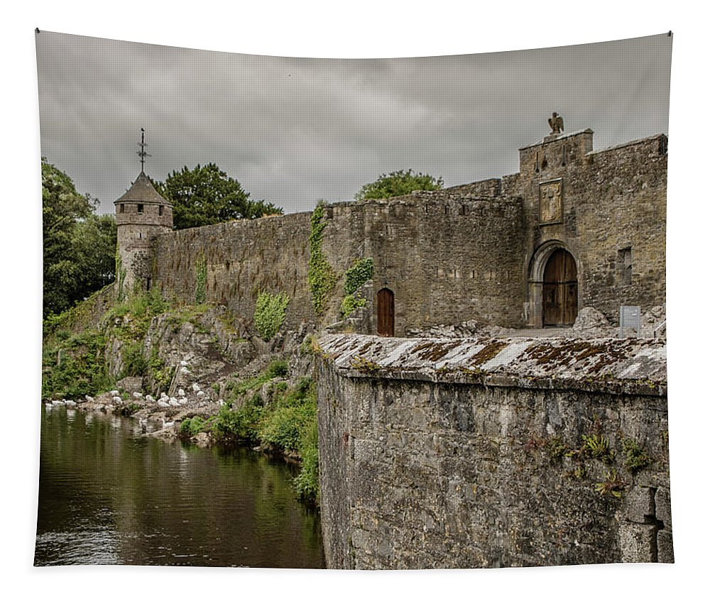 Ireland Tapestry featuring the photograph Cahir Castle 1384 by Teresa Wilson