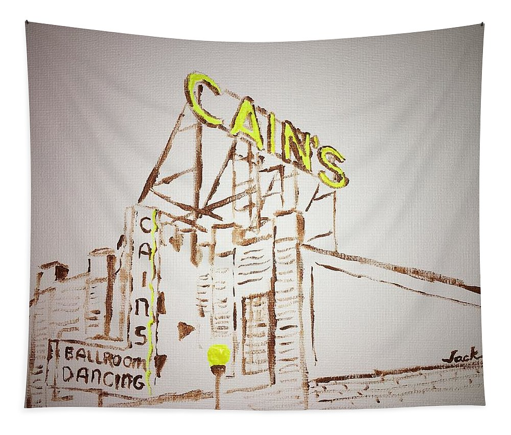 Cain's Ballroom Tapestry featuring the painting Cain's by Jack Bunds