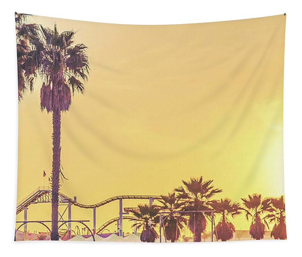 Santa Monica Pier Tapestry featuring the photograph Cali Vibes by Az Jackson