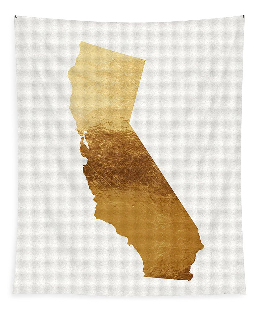 California Tapestry featuring the mixed media California Gold- Art By Linda Woods by Linda Woods