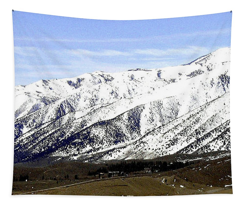 Snowcapped Tapestry featuring the photograph California Grandeur by Will Borden
