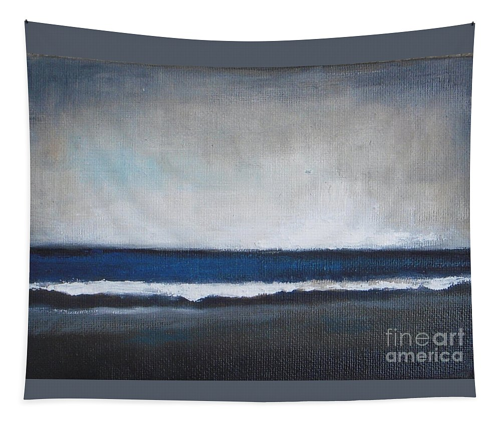 Ocean Painting Tapestry featuring the painting Calm Ocean by Vesna Antic