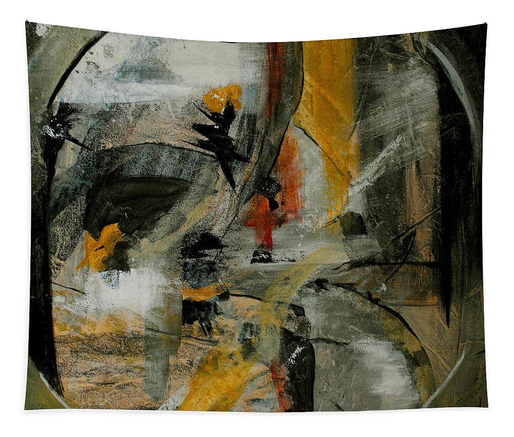 Abstract Tapestry featuring the painting Calm Out Of Chaos by Ruth Palmer