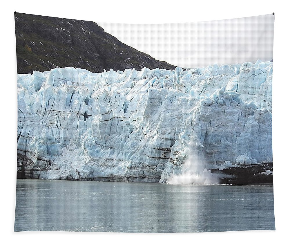 Margerie Tapestry featuring the photograph Calving Glacier by Michael Peychich