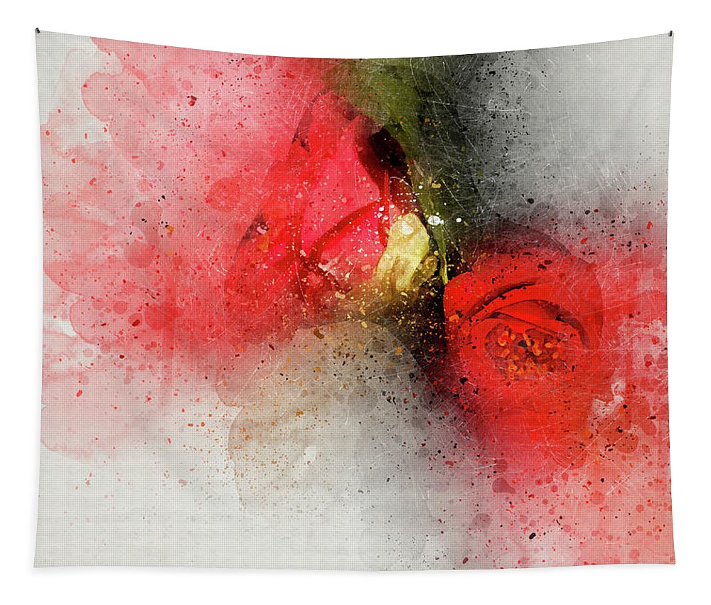 Camellia Tapestry featuring the photograph Camellia Burst by Kay Brewer