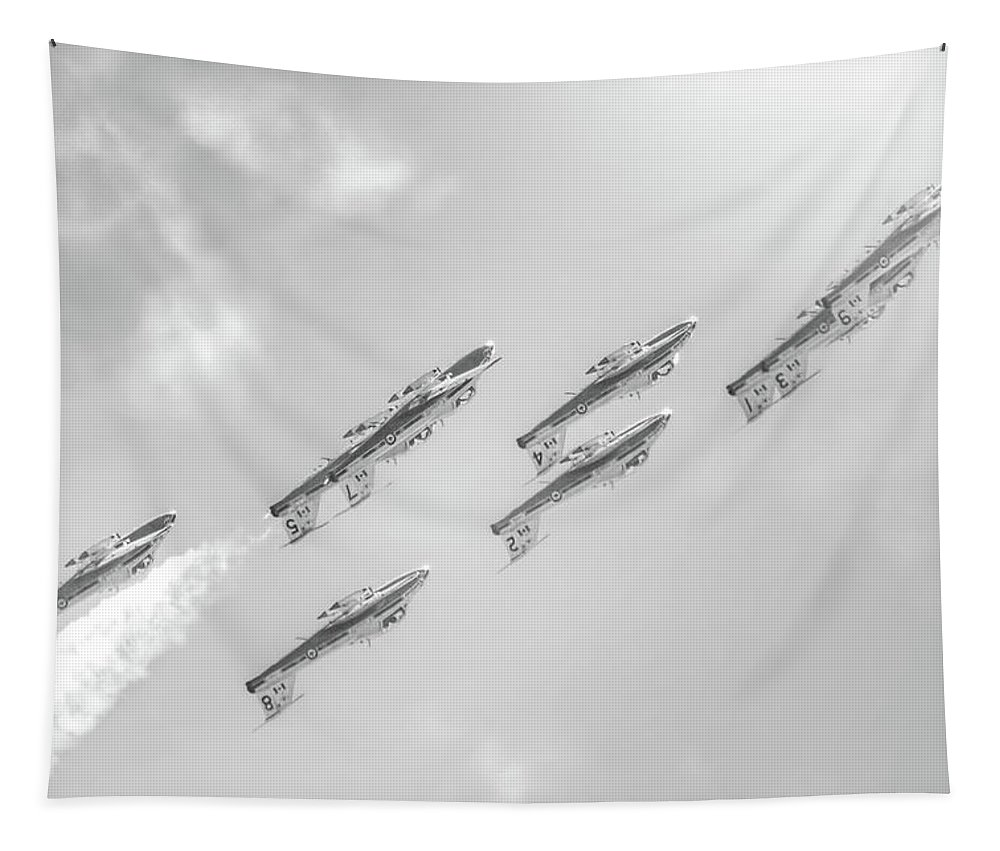 Canadian Air Force Tapestry featuring the photograph Canadian Armed Forces Snowbirds by Mark Andrew Thomas